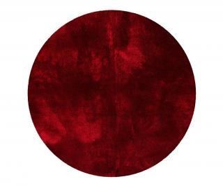 Koberec Tapp Shaggy Red Round 200 cm Červená 200 cm