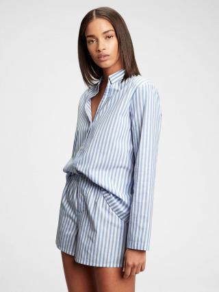 Košeľa na spanie pajama in poplin Modrá dámské M