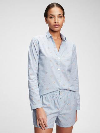 Košeľa na spanie pajama in poplin Modrá dámské XS