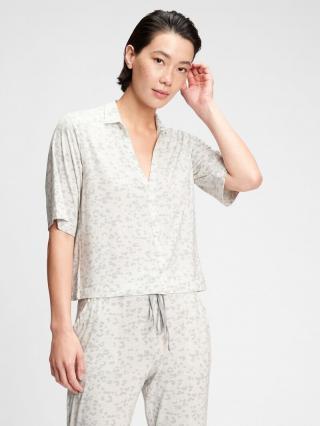 Košeľa na spanie truesleep button-front top in modal Biela dámské L