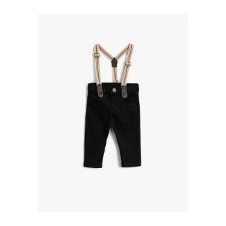 Koton Baby Boy Black Suspended Normal Waist Pocket Trousers pánské Other 18-24 M