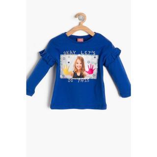 Koton Blue Baby Girl Printed Sweatshirt dámské Other 3-6 M