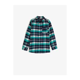Koton Boy Green Pocket Checked Shirt pánské Other 3-4 Y