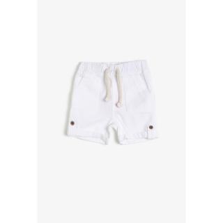 Koton Boys White Cotton Shorts With Pocket pánské White 000 12-18 AY
