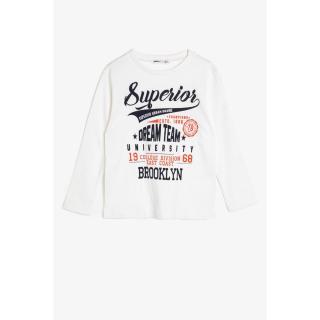Koton Boys White T-Shirt pánské Other 3-4 Y