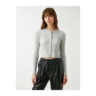 Koton Button Detailed Long Sleeve Basic Knitwear Cardigan dámské Other L