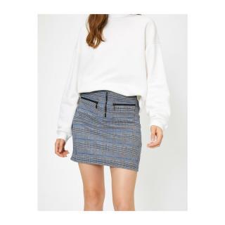 Koton Checked Skirt dámské Black XL