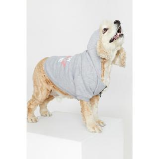Koton Gray Hoodie Dog Sweatshirt Other S