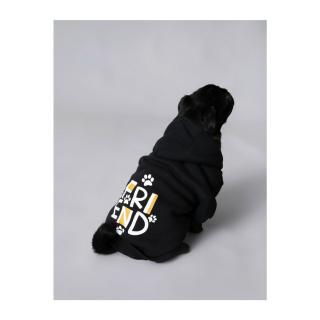 Koton Hoodie Printed Dog Sweatshirt čierna M