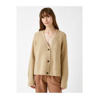 Koton Knitted Crop Cardigan Buttoned dámské Other L