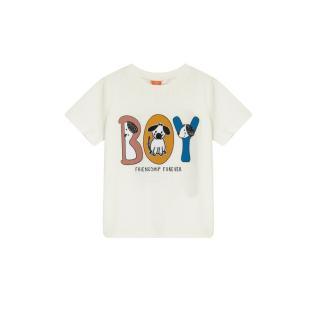 Koton Love Kids Crew Neck Printed T-Shirt pánské Ecru 9-12 AY