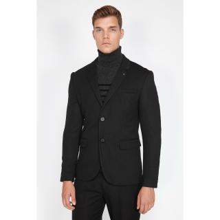 Koton Mens Black Pocket Detailed Jacket pánské Other 46