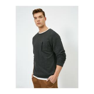 Koton Mens Gray Crew Neck Sweater pánské Other XS