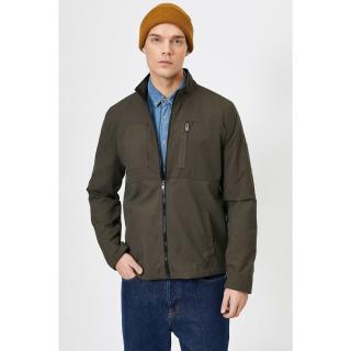 Koton Mens Green Pocket Detailed Coat pánské Other XS