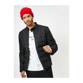 Koton Mens Judge Collar Zippered Pocket Coat pánské Other L
