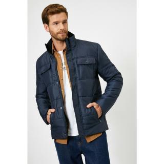 Koton Mens Navy Blue Coat pánské Other L
