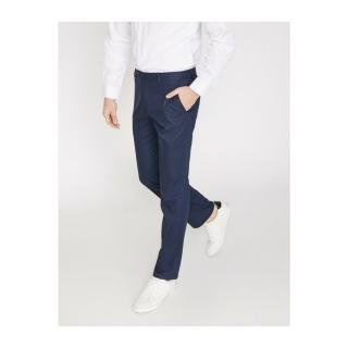 Koton Mens Navy Blue Pocket Detailed Trousers pánské 48