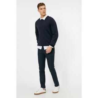 Koton Mens Navy Blue Pocket Detailed Trousers pánské Other 42