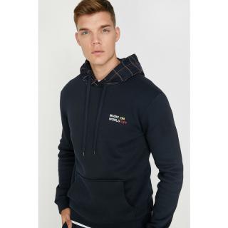 Koton Mens Navy Blue Printed Sweatshirt pánské Other S