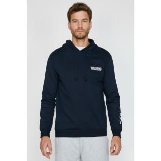 Koton Mens Navy Blue Printed Sweatshirt pánské Other XS