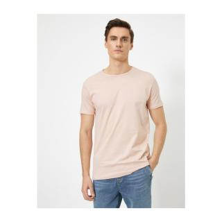 Koton Mens Pink Crew Neck T-Shirt pánské XL