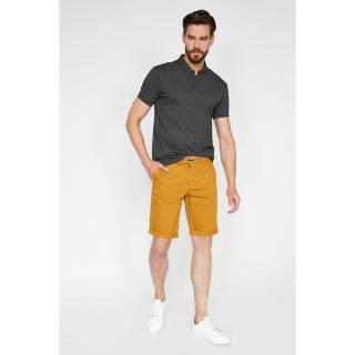 Koton Mens Yellow Pocket Detail Sort Sarı 40