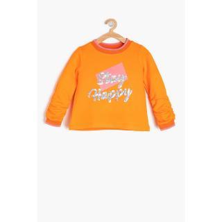 Koton Orange Baby Girl Printed Sweatshirt dámské Other 12-18 M
