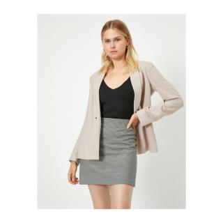 Koton Plaid A-Line Mini Skirt dámské Black 38