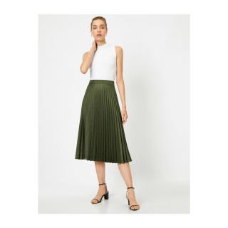 Koton Pleated Midi Skirt dámské Green 34