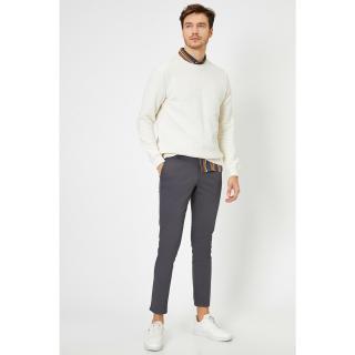 Koton Pocket Detailed Skinny Fit Trousers pánské Black 999 29/32
