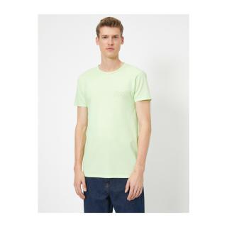 Koton Printed Printed T-shirt pánské GREEN L