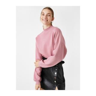 Koton Stand Up Collar Long Sleeve Sweatshirt dámské Other XS