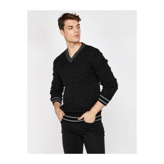 Koton V Neck Knitwear Sweater pánské Other XL