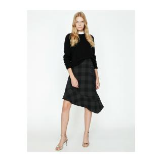 Koton Women Black Button Detailed Skirt dámské 40