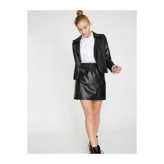Koton Women Black Leather Look Skirt dámské Black 999 34