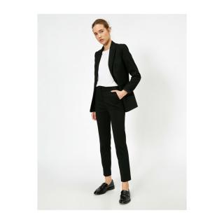 Koton Women Black Pocket Detailed Trousers dámské Black 999 38