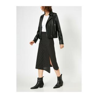 Koton Women Black Striped Skirt dámské S