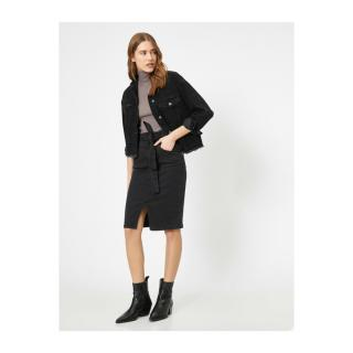 Koton Women Black Waist Tie Skirt dámské 34