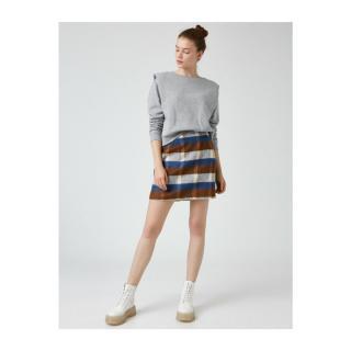 Koton Women Skirt dámské BROWN PLAIN 34
