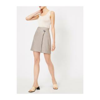 Koton Womens Beige Button Detailed Skirt dámské Ekru 34