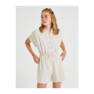 Koton Womens BEIGE Short Sleeve Shirt Other 34