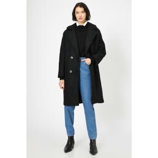 Koton Womens Black Coat dámské Other 44