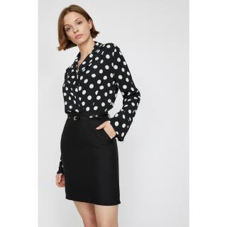 Koton Womens Black Pocket Detailed Skirt dámské Other 36