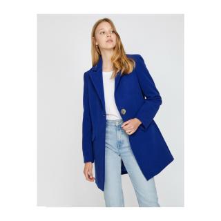 Koton Womens Blue Button Detailed Coat dámské Other 34