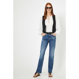 Koton Womens Blue Pocket Detailed Trousers dámské 26/32