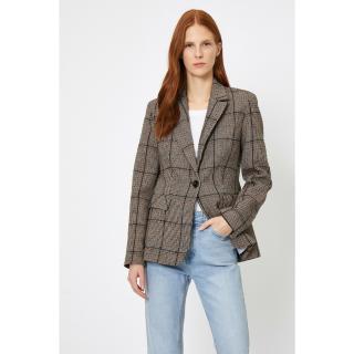 Koton Womens Brown Button Detailed Jacket dámské Other 34
