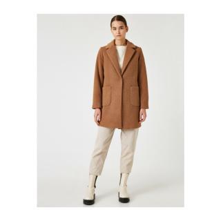 Koton Womens Brown Pocket Coat dámské Other 42