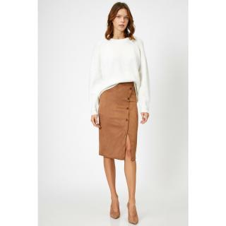 Koton Womens Brown Skirt dámské Other L