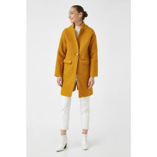 Koton Womens Coat Mustard dámské Other 44