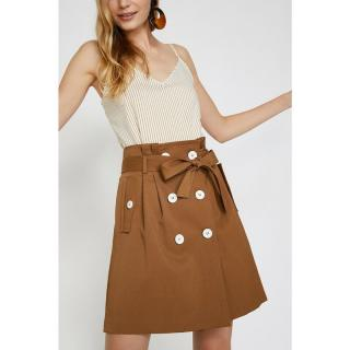 Koton Womens Coffee Button DetailEd Skirt dámské Kahve 34
